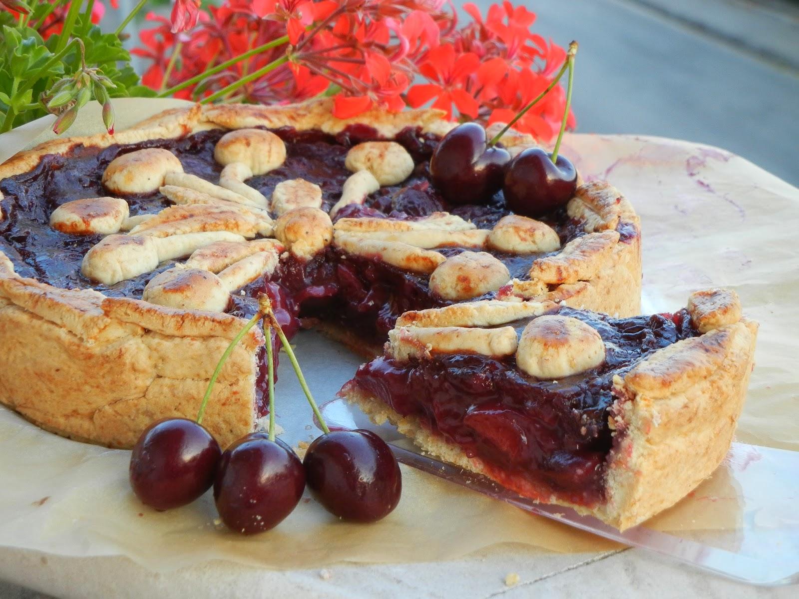 Balsamic cherry pie with black pepper crust….per Re-Cake!!!