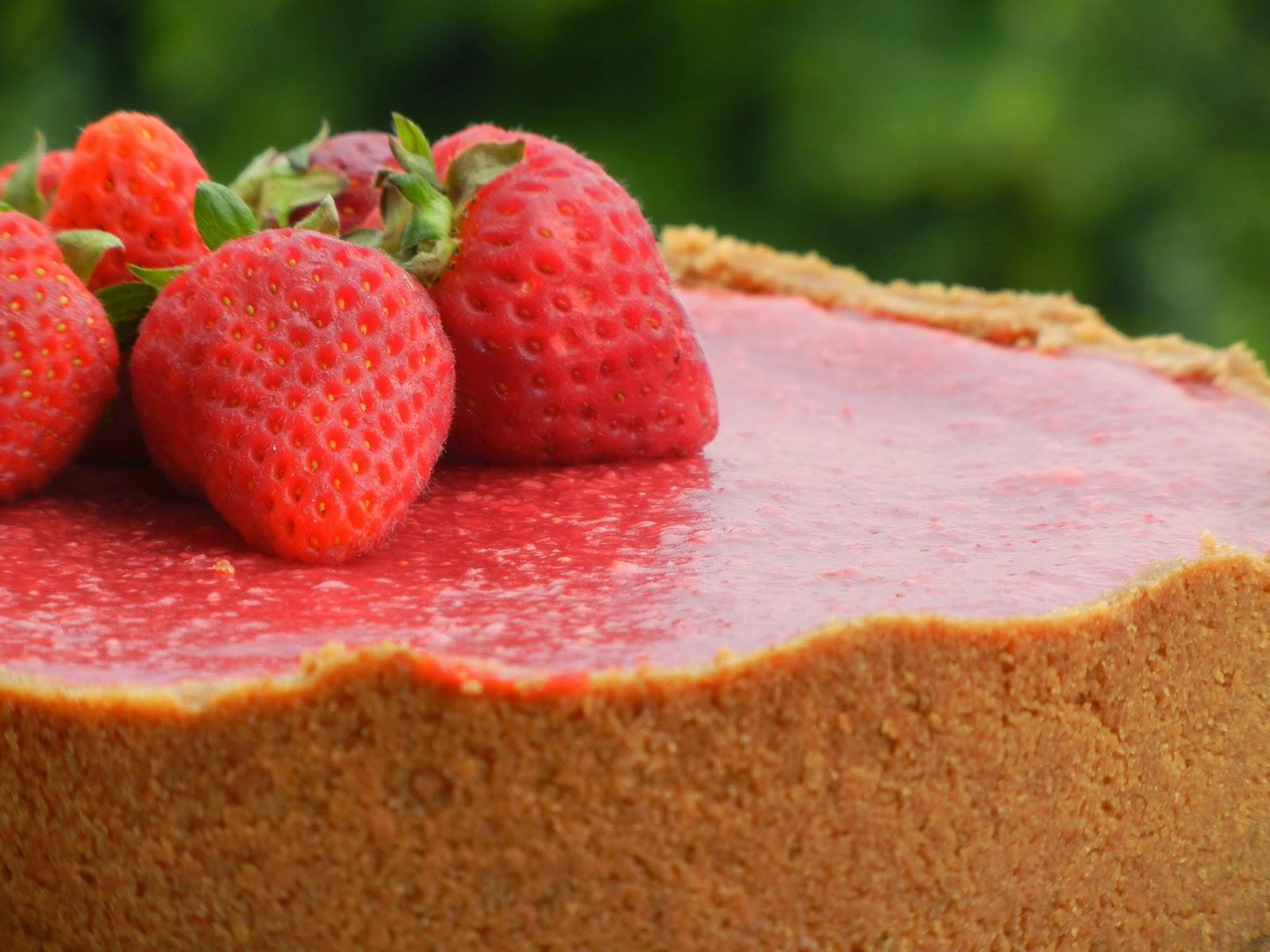 Happy birthday to me!!!……..Cheesecake con fragole!!!