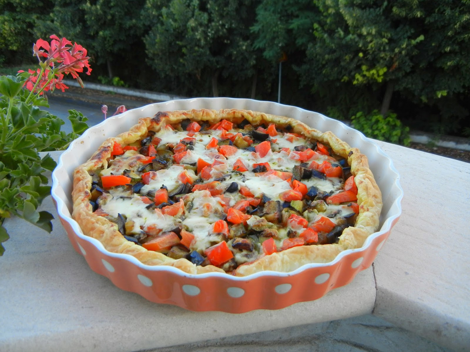 Torta rustica con verdure al curry