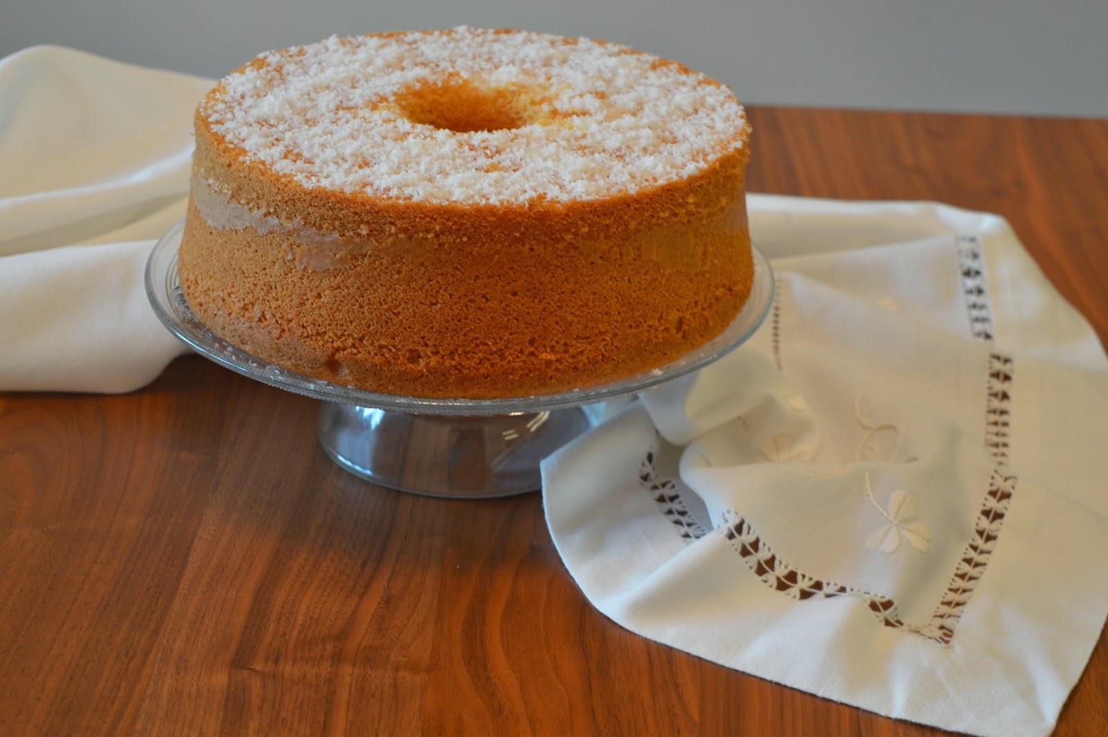 Chiffon cake al cocco #iomangiolafluffosa