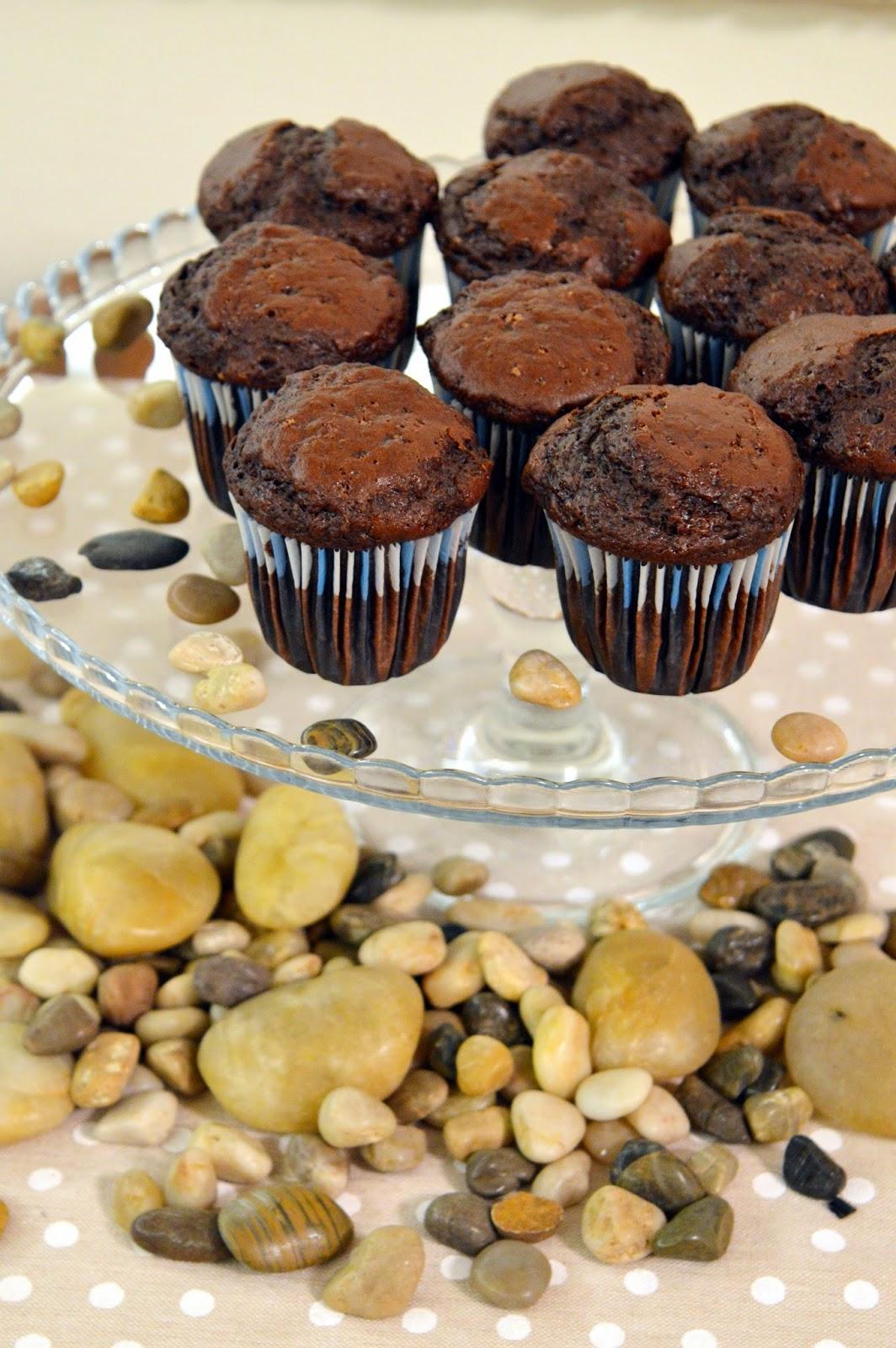 Muffin vegano al cioccolato e banane