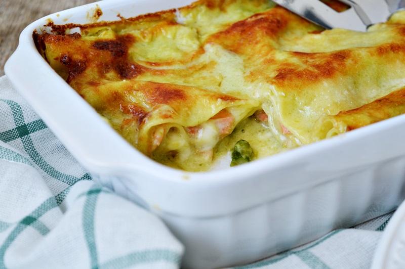 Lasagna asparagi e salmone affumicato