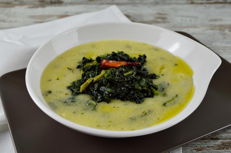 Zuppa di cavolo nero e polenta