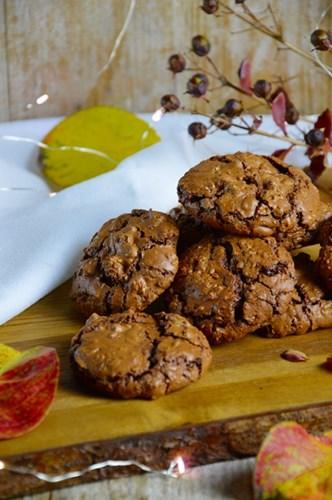 Cookies morbidi cioccolato e caffè