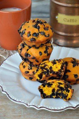 Tortini di zucca con gocce di cioccolato