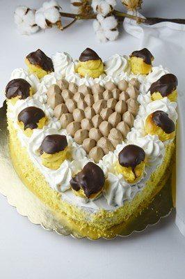Torta cuore con crema chantilly al cioccolato – 6° complimese Niccolò