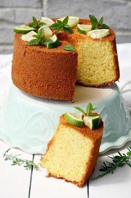 Chiffon cake al mojito