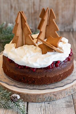 Torta natalizia ciocco-cocco e ribes