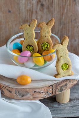 Coniglietti al pistacchio e crema alla nocciola