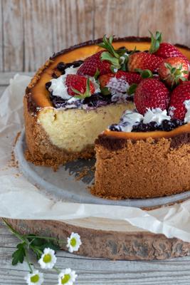 Cheesecake ricotta e fragole